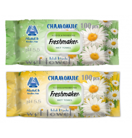 Freshmaker Chamomile Islak Mendil 100 adet kapaklı x 12li koli