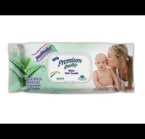 Freshmaker Premium Islak Bebek Mendili 72 adet kapaklı x 12li koli