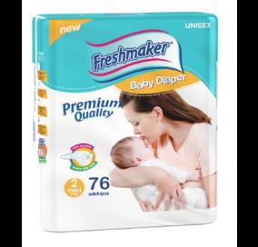 Freshmaker Mini Bebek Bezi 76 adet